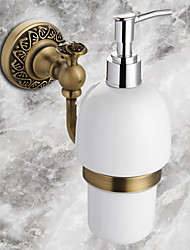 Soap Dispenser Antique Bronze Wall Mounted 18*19cm(7.08*7.48inch) Brass / Ceramic Antique