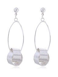 Women's Fashion Exaggerated Platinum Electroplate Drop Earring