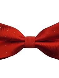 mode couleur unie millésime nœud papillon rouge jacquard de mariage des hommes avec des points d'argent