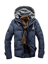 Men' Fashional Insulation Thick  Down  Jacket with Hat