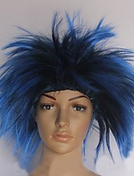 Blue and Black Hedgehog Hair Halloween Masquerade  Wig