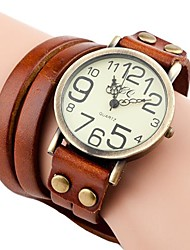Women's Vintage Style Long Strap Leather Band Quartz Analog Bracelet Watch (Assorted Colors) Cool Watches Unique Watches