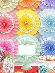 Wedding Décor Three Layers Of Paper Fan (More Colours) (35cm Diameter)