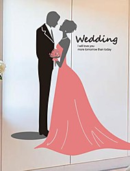 Wall Stickers Wall Decals,  Modern The wedding PVC Wall Stickers