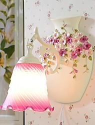 haoxinyi® fleur de pensée mini-murale 1 lumière poresin peint à la main