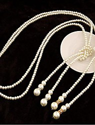 Women's Strands Necklaces Pearl Imitation Pearl Fashion Silver Golden Jewelry Wedding Party Special Occasion Birthday Gift Daily Casual
