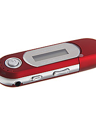 4GB Portable MP3 Player with FM Function/USB 2.0 (Red)