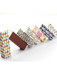 1PCS Emery Nail File Cuboid Various Design (Random Color)
