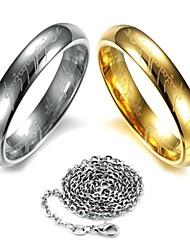 Ringe Hochzeit / Party / Alltag / Normal Schmuck Edelstahl Damen Bandringe5 / 6 / 7 / 8 / 9 Goldfarben / Silber