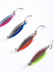 4g Spoons Metal Lures Fising Lures (4pcs/pack / Radom Color)