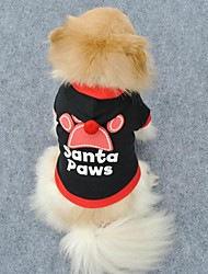 Dog / Cat Hoodie Red / Black Winter Christmas Wedding / Cosplay