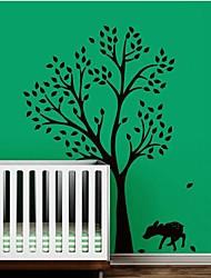 jiubai® grand mur d'arbre et le cerf sticker mural autocollant