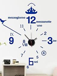 stickers muraux stickers muraux, modernes anglaises simples horloge numérique mur de PVC autocollants