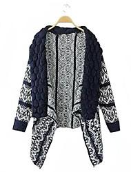 Women's Blue/White/Black/Beige Cardigan , Casual/Work Long Sleeve