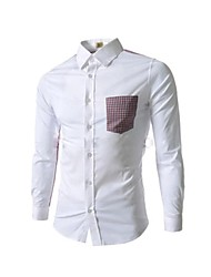 mode casual chemise mince pour hommes