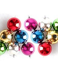Christmas Tree Decoration Light 5.5cm Christmas Ball Color Mixing Six Color Balls (6 Pack)