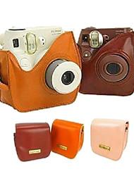 pu bolsa de couro da câmera para fujifilm mini7s