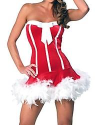 sexy striscia senza spalline lingerie di Natale delle donne (con il cappello)