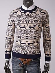 suéter de cuello de los hombres