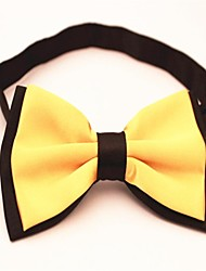 The New Black Polyester Silk Bow Tie More Colors