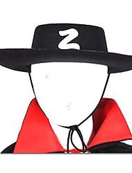 chapeau zorro noir Halloween accessoire