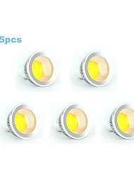 5pcs 5W GU10 350-400LM 3000-3500K Warm White Color Support Dimmable Led Cob Spot Light Lamp Bulb(220V)