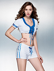 Dancewear Women's Female Energetic Polyester Stretch Ultrashort Cheerleading Dance Outfit