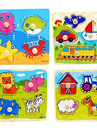5 niños determinados juguete educativo temprano rompecabezas de madera (4pcs / set)