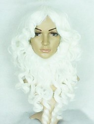 barba bianca piena parrucca di Natale