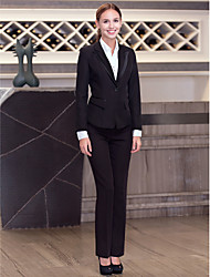 Front Desk Turned-down Single-Breasted Buttons Twill Suit