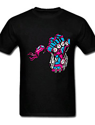 League of Legends lol o executor arrogância Piltover - vi punho padrão de algodão preto t-shirt cosplay