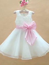 flor rosa vestido de festa colorido dama de honra de casamento grande arco da menina