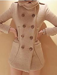 Lang - Medium - Jas ( Tweed )voor Casual met Lange mouw