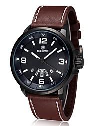 Luxury Brand Leather Watch Men Luminous Watch Date Calender Japan Quartz Movement (Assorted Colors)