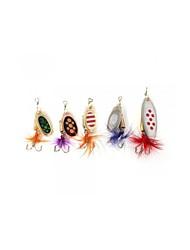 5 pcs Poissons nageur/Leurre dur / leurres de pêche Poissons nageur/Leurre dur Violet g/1/6 Once mm pouce,Métal Pêche d'appât