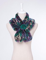 Women Rex Rabbit Fur Shawl & Wrap/Accessory