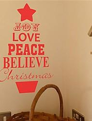 jiubai® Weihnachtswandaufkleber Wandtattoo