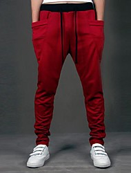 Man's Contrast Color Drawstring Pants