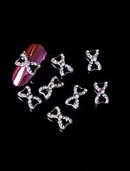 5pcs 3d zwarte vlinderdas legering strass nail art decoraties nail art sieraden