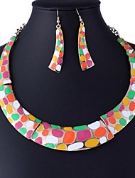 Women's Fashion All Match Alloy Jewelry Set(Including Necklaces Earrings)
