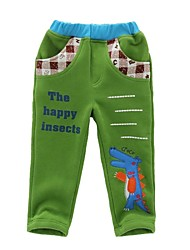 BOY'S in the spring and autumn outfit 100% cotton embroidery long pants