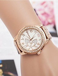 Women's Fashion Rhinestones Flower Steel Belt Quartz Wrist Watch(Assorted Colors) Cool Watches Unique Watches