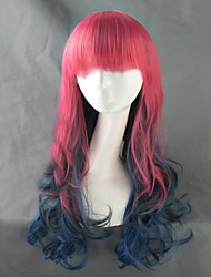 Harajuku Style Grediant Multicolor Curly Lolita Wig