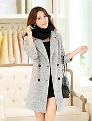 yibeier® vrouwen kraag toevallige slanke wol warme jas