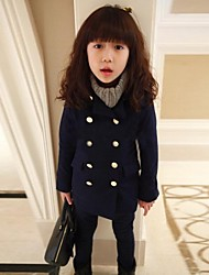 meisje mode dubbele rij knopen warme jas