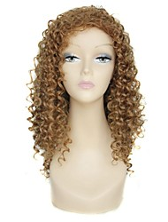 25 Inch Long Gold Yellow Curly Female Elegant Fashion Ombre 180 Degree Hight Temperature Synthetic Celebrity Wig