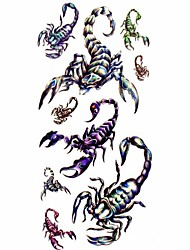 1pc Big Scorpion Waterproof Tattoo Sample Mold Temporary Tattoos Sticker for Body Art(18.5cm*8.5cm)