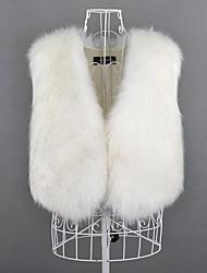 chaleco de ocio de moda de piel chaleco de piel de las mujeres (más colores)