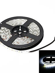 Waterproof 72W 3000lm 6000K 300-SMD 5050 LED White Light Strip (5m / DC 12V)
