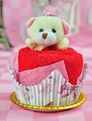 Birthday Gift Cake Shape Fiber Creative Towel (Random Color)